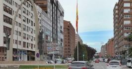 La confluencia entre la avenida de la Paz y la plaza España está en el tramo alto del ranking de los precios del mercado del alquiler de la capital burgalesa. - ISRAEL L. MURILLO